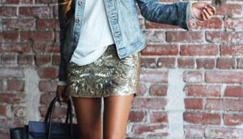 outfit-falda-dorada-lentejuelas